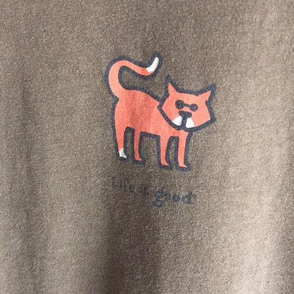 4f1174ce555efb Life Is Good Tops - Life is good cat shirt
